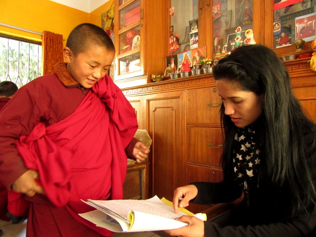 Teacher with young monk
