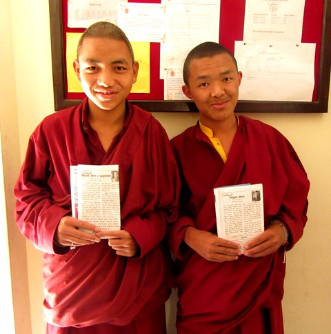 Monks publish articles in local magazine