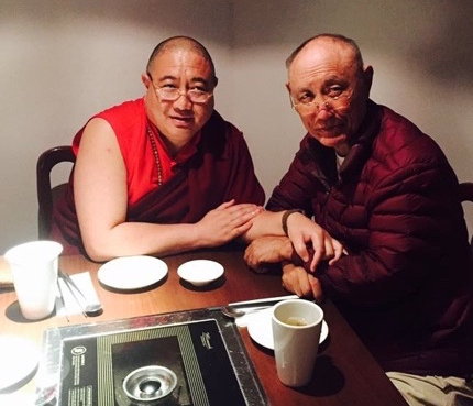 Rabjam Rinpoche with Chime Rinpoche