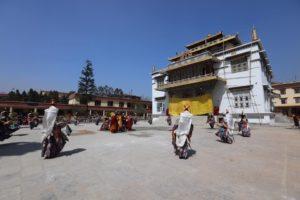 Outside Shechen Monastery 2017