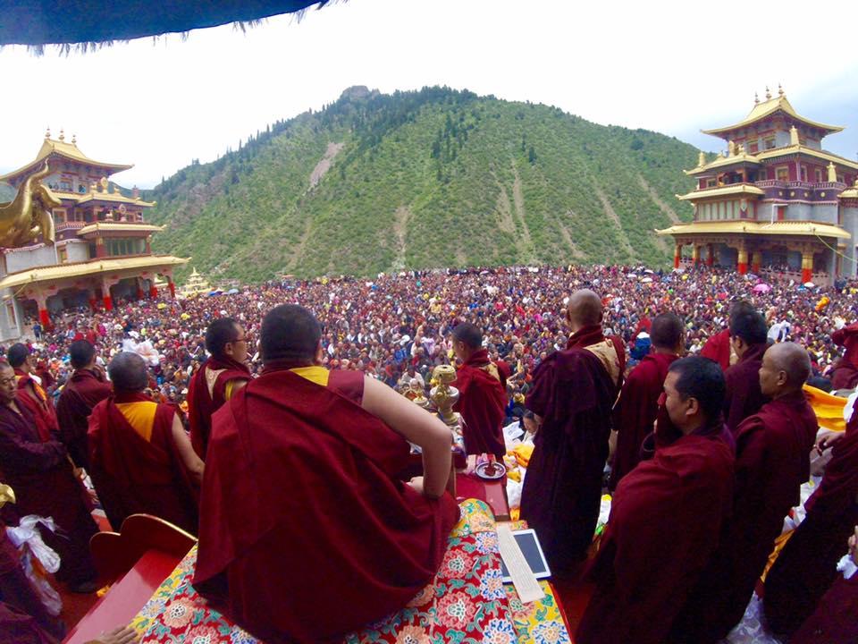 Rabjam Rinpoche in Tibet