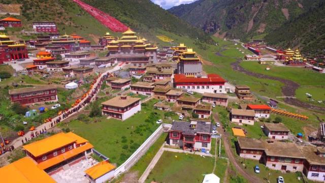 Shechen Monastery in Eastern Tibet